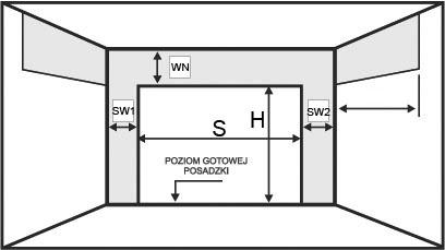 Schemat pomiaru bramy garażowej