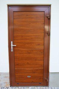 Drzwi aluminiowe Złoty Dąb